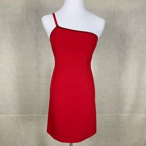 Sexy Cache red dress one shoulder size Small